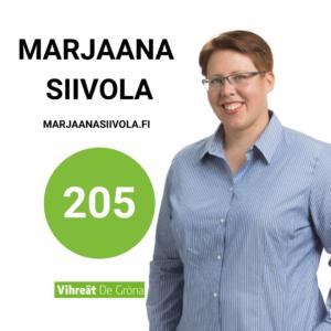 Marjaana Siivola 205 Kuntavaalit 2021
